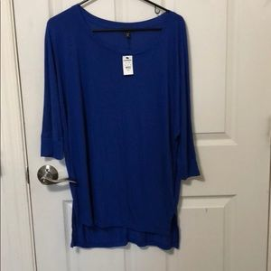 Express loose fit blue top